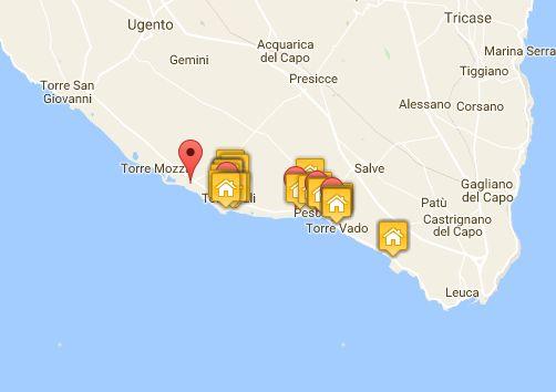 Salve Puglia Cartina.Ville Di Prestigio Vacanze Puglia E Salento Ville Di Lusso